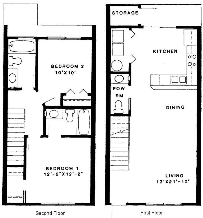 two story condo floor plans